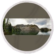 Round Beach Towel featuring the photograph Gilpin Lake by Nicole Lloyd
