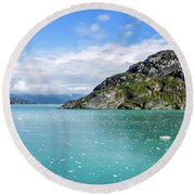 Round Beach Towel featuring the photograph Glacier Bay 6 by Dawn Richards