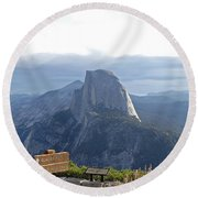 Glacier Point Round Beach Towel