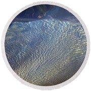 Glacier Texture Round Beach Towel