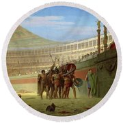 Ave Caesar, Morituri Te Salutant  - Digital Remastered Edition Round Beach Towel