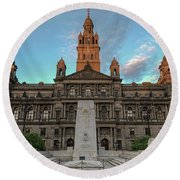 Glasgow Cenotaph Round Beach Towel