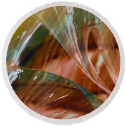 Glass Blowing Dance Round Beach Towel
