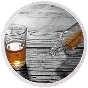 Glass Of Brandy Round Beach Towel