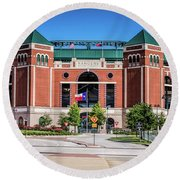 Round Beach Towel featuring the photograph Globe Life Park In Arlington by Robert Bellomy