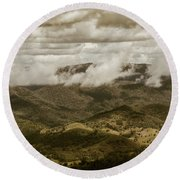 Glorious Cloud Cover Round Beach Towel