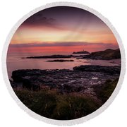 Godrevy Sunset - Cornwall Round Beach Towel
