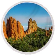 God's Garden Round Beach Towel