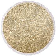 Gold Glitter Round Beach Towel