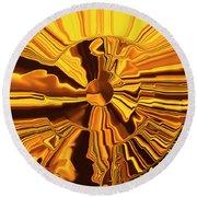 Golden Circle Round Beach Towel