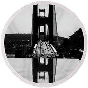 Golden Gate Reflection Round Beach Towel