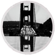 Golden Gate Reflection Round Beach Towel