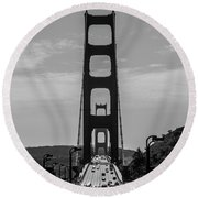 Round Beach Towel featuring the photograph Golden Gate by Stuart Manning