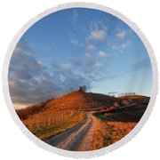 Round Beach Towel featuring the photograph Golden Hill by Davor Zerjav