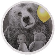 Goldilocks And The Three Bears Round Beach Towel
