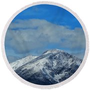 Round Beach Towel featuring the photograph Gore Range Mountains by Lukas Miller
