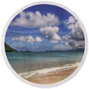Grace For The Moment Round Beach Towel