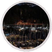 Round Beach Towel featuring the photograph Gracie's Necklace by Ross G Strachan