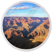 Round Beach Towel featuring the photograph Grand Canyon Near Sunset by Dawn Richards