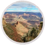 Grand Canyon View 3 Round Beach Towel