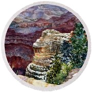 Grand Canyon Winter Day Round Beach Towel
