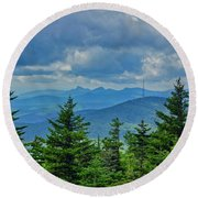 Grandmother Mountain Round Beach Towel