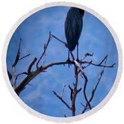 Great Blue Heron 3 Round Beach Towel