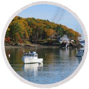 Great Diamond Island Maine Round Beach Towel