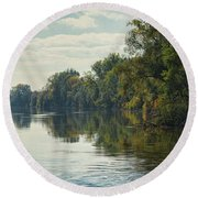 Great Morava River Round Beach Towel
