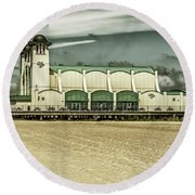 Round Beach Towel featuring the photograph Great Yarmouth Wellington Pier by Scott Lyons