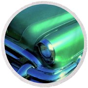 Green 1955 Buick Special Round Beach Towel