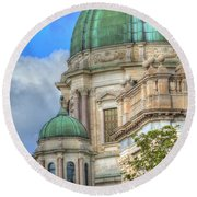Green Dome's Of Italy Round Beach Towel