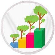 Green Economy Investment Concept Round Beach Towel