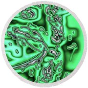 Green Infected Round Beach Towel