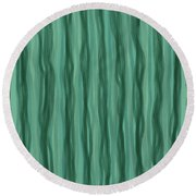 Green Stripes Round Beach Towel