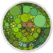 Green With Envy Round Beach Towel