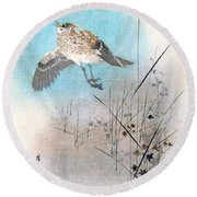 Ground Sparrow Round Beach Towel