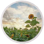 Growing Tall Round Beach Towel