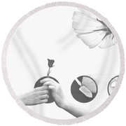 Growing Together Round Beach Towel
