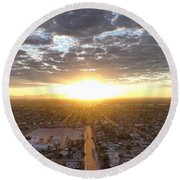 Guadalupe Sunset Round Beach Towel