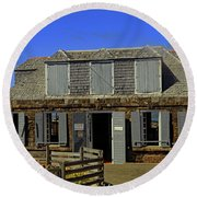 Round Beach Towel featuring the photograph Guardhouse by Tony Murtagh