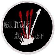 Guitar Hoarder Round Beach Towel