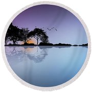 Guitar Island Round Beach Towel
