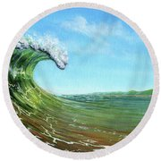 Gulf Of Mexico Surf Round Beach Towel