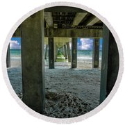 Gulf Shores Park And Pier Al 1649b Round Beach Towel