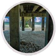 Gulf Shores Park And Pier Al 1649b Round Beach Towel