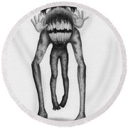 Gummy - Artwork Round Beach Towel