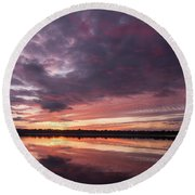 Halifax River Sunset Round Beach Towel