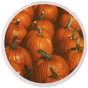 Halloween Harvest - 2 Round Beach Towel
