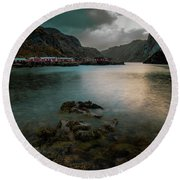 Hamnoy, Lofoten Islands Round Beach Towel